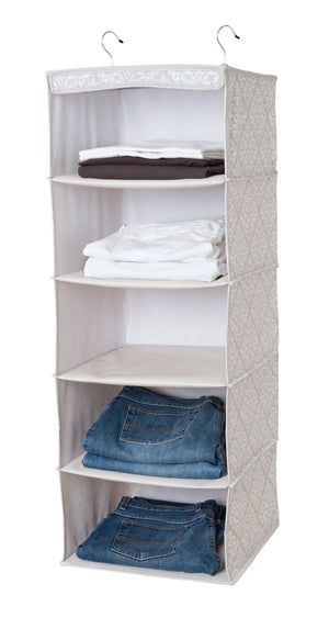 5-Shelf Closet Organizer - Diamond Damask
