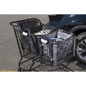 Shopping Cart Bag - Clever Shopper - White Waves