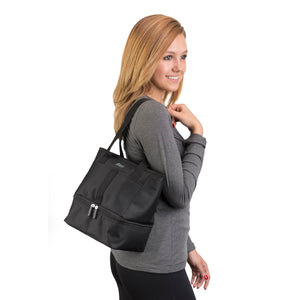 Let's Do Lunch Tote - Black - Clever Fresh Special - 60% OFF