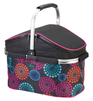 Insulated Market Basket - Bright Lights - Summer Special - 50% OFF Plus Free String Backpack