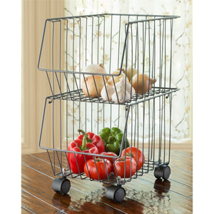 Better Together Baskets - Set of 2 With Casters