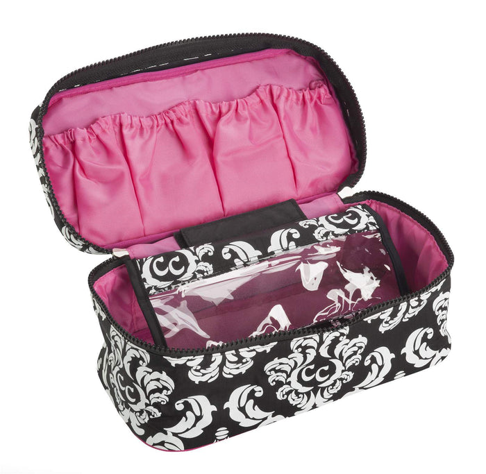Anything Goes Bag - Damask with Pink