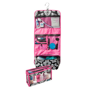 Two-Piece Travel Set - Damask with Pink