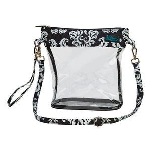 Now You See It - Crossbody Bag - Damask with Black