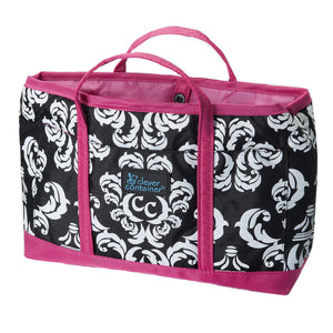 Purse Organizer - Damask with Pink