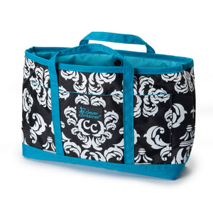 Purse Organizer - Damask with Teal