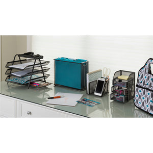 Black Mesh File Holder + Hanging File Folders - Get Organized Bundle - 70% OFF