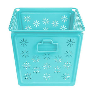 Locker Basket - Teal with Flower Pattern - 75% OFF