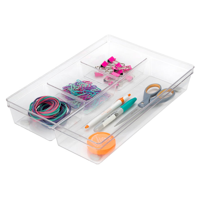 4-Compartment Clear Tray