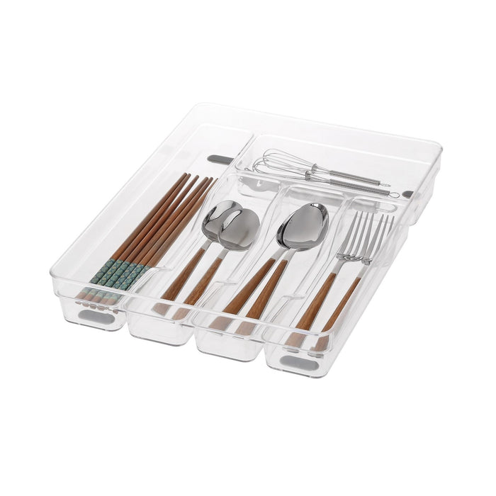 5-Compartment Clear Tray