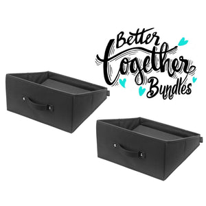 Handle It Reversible Bin - Black - Set of 2 - Bundle