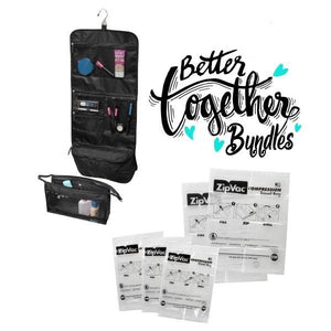 Clever Cache + Two-Piece Travel Set - Black - Bundle