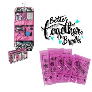 Clever Cache + Two-Piece Travel Set - Pink - Bundle