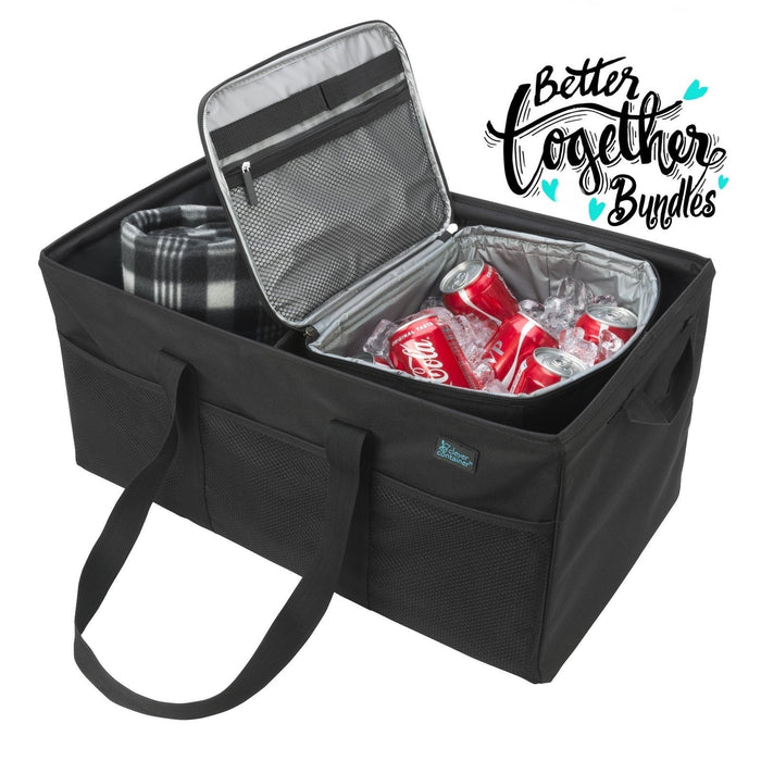 Keep It Cool Cooler + Cargo CarryAll - Black - Score Big Bundle