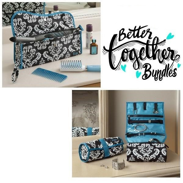 Hot to Cool Pouch + On a Roll - Damask Teal - Fall Getaway Bundle