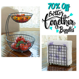 Napkin Holder + Two-Story Home - Basket Weave - Better Together Bundle - 70% OFF