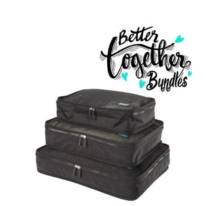 Packing Cubes - Black -  Set of 3 - Sm-Med-Lg - Fall Getaway Bundle