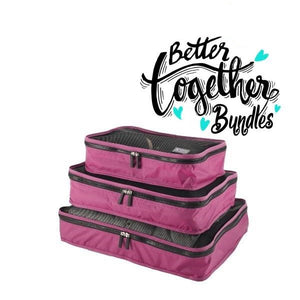 Packing Cubes - Pink - Set of 3 - Sm-Med-Lg - Fall Getaway Bundle