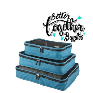 Packing Cubes - Teal - Set of 3 - Sm-Med-Lg - Fall Getaway Bundle