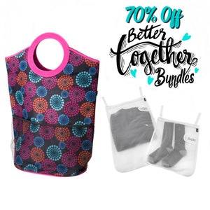 Slam Dunk Hamper - Bright Lights + Mesh Wash Bags - Bright Lights Special Bundle - 70% OFF