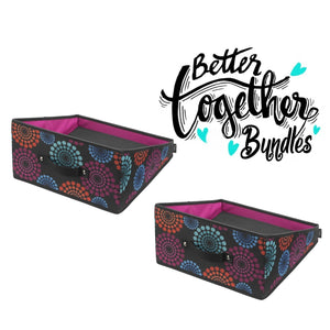 Handle It Reversible Bin - Bright Lights - Set of 2 - Bright Lights Special Bundle - 70% OFF
