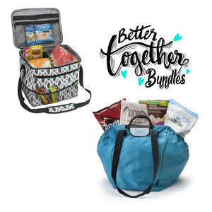 Shopping Cart Bag - Clever Shopper - Teal + Keep It Cool Cooler - Modern Links - Bundle