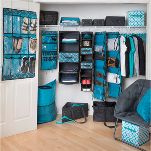 Handle It Reversible Bin - Teal Plaid - Set of 2 - Better Together Bundle