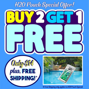 H2O Pouch - Buy 2, Get 1 Free Bundle - ONLY $14 + Free Shipping (H2O Bundle Only)