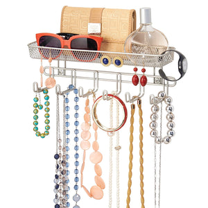 Wall Mount Organizer - Satin Nickel - 75% OFF