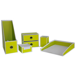 Desk Envy - Green - 5-Piece Set - 75% OFF