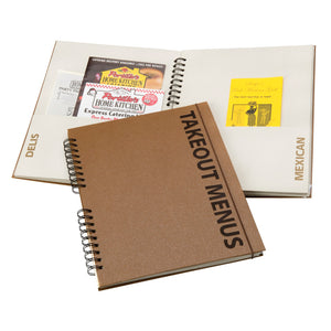 Takeout Menu Organizer - Brown