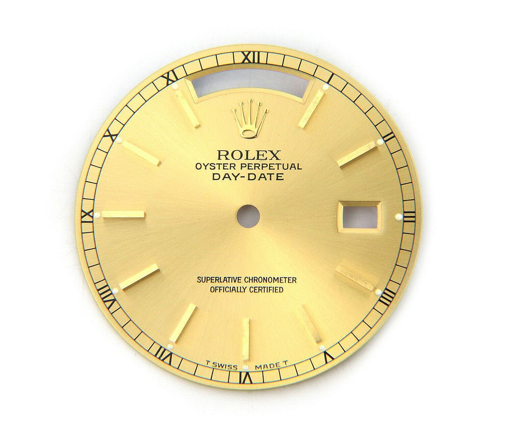 Rolex Day-Date Dial in 14K Yellow Gold, 28mm
