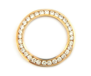 1.50ctw Diamond Bezel Fits Ladies 26mm Rolex, 14K Gold