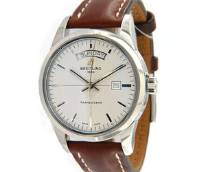 Breitling Transocean Day Date A45310, Stainless Steel, W/Box