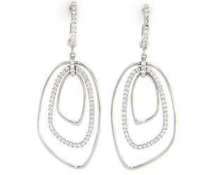 New Frederic Sage Diamond Layered Dangle Earrings in 14K