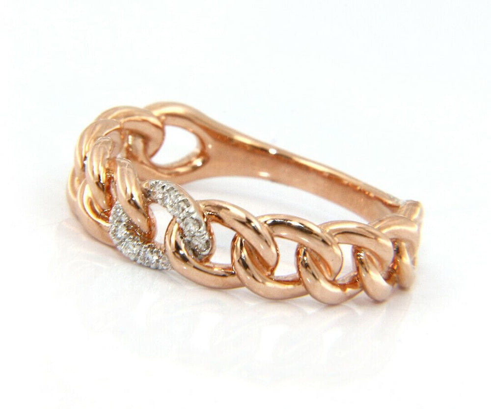 New Gabriel & Co. Diamond Chain Link Band Ring in 14K