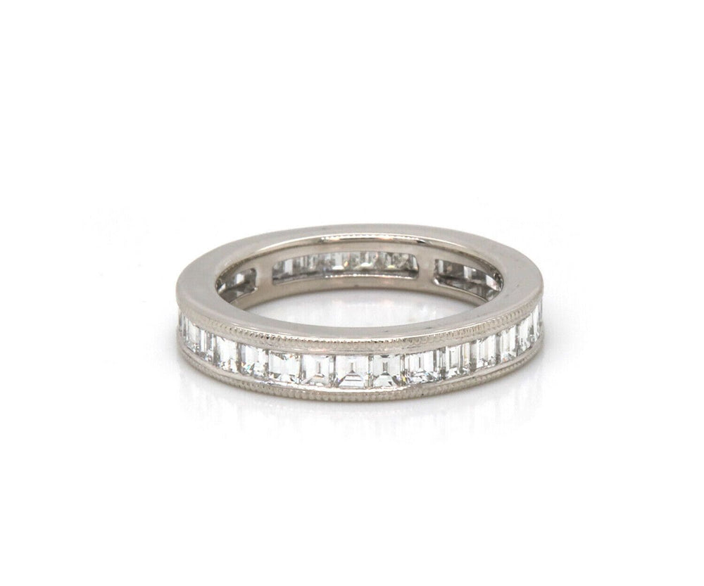1.57ctw Baguette Diamond Channel Set Eternity Band Ring in Platinum