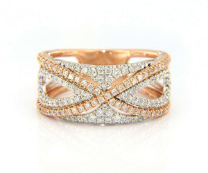 New From Gabriel & Co: 0.66ctw Diamond French Pav Set Fancy Band in 14kt