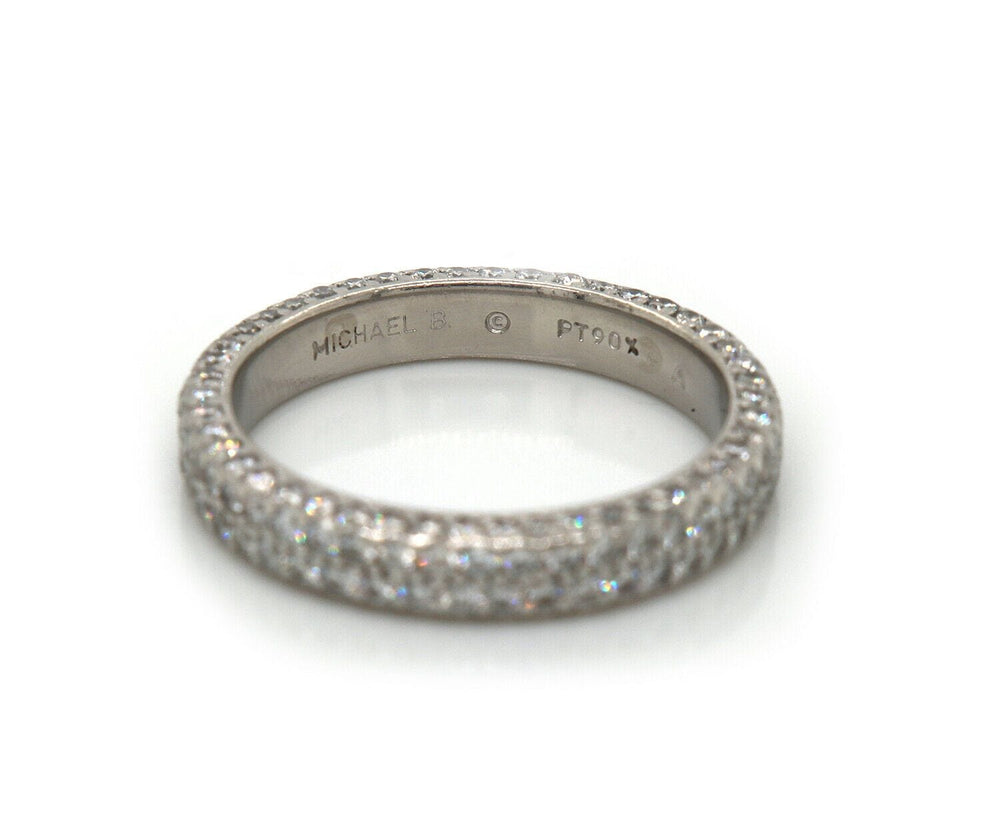 Michael B. Pave Diamond Flat Band Ring in Platinum