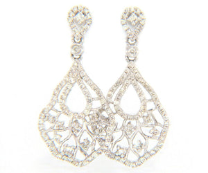 New 1.01ctw Diamond Vintage Style Dangle Earrings in 14K