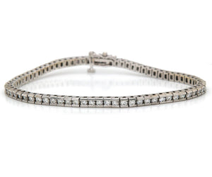 3.00ctw Round Diamond Channel Set Tennis Bracelet in 14K