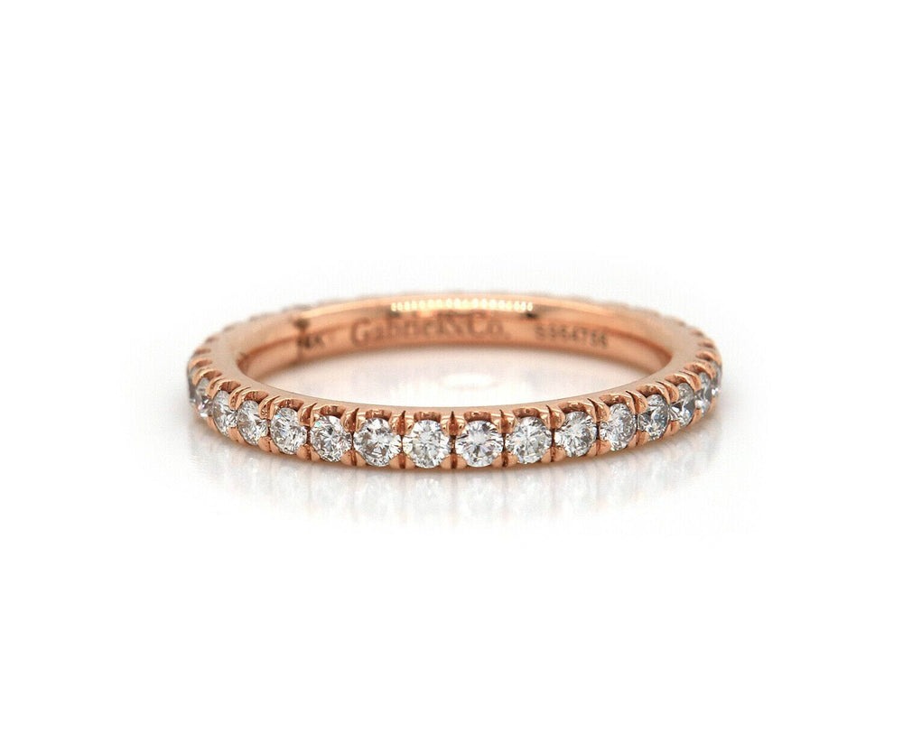 New Gabriel & Co. 0.75ctw Diamond Eternity Band Ring in 14K