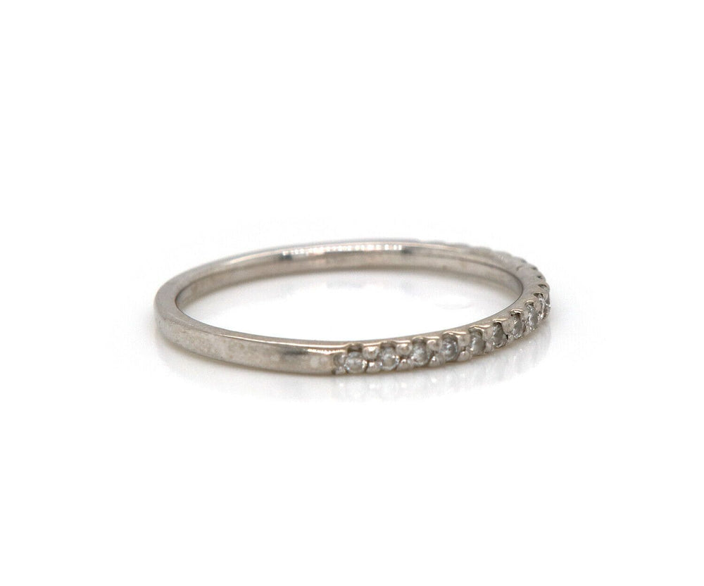 New 0.25ctw Diamond Shared Prong Wedding Band Ring in 14K