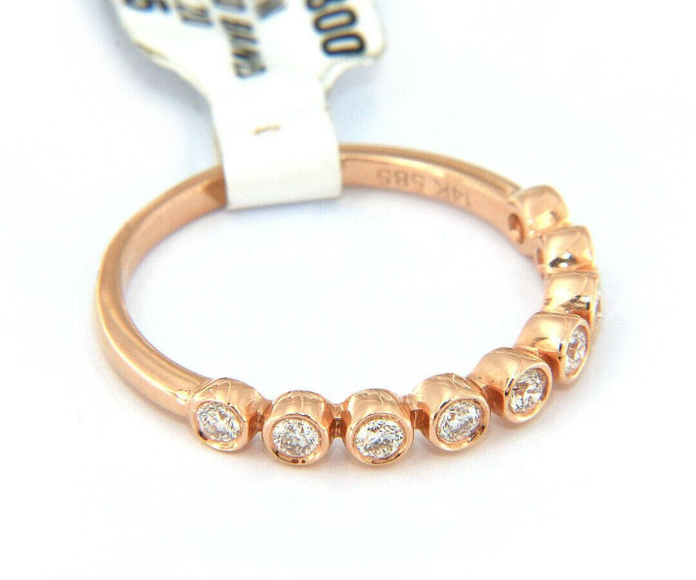 New 0.26ctw Diamond Bezel Set Anniversary Band Ring in 14kt