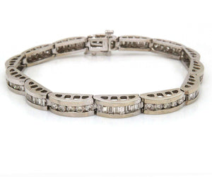 6.0 CTW Diamond Bridge Link Bracelet in 14K