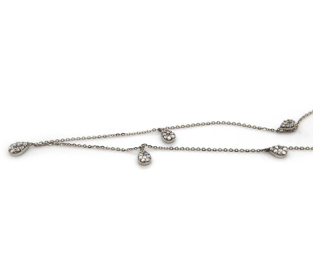 0.48ctw Diamond Station Drop Necklace in 14K
