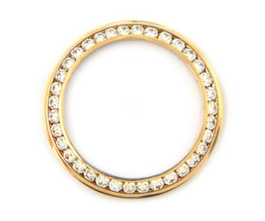 2.00ctw Channel Set Diamond Bezel for 26mm Rolex, 18K Gold
