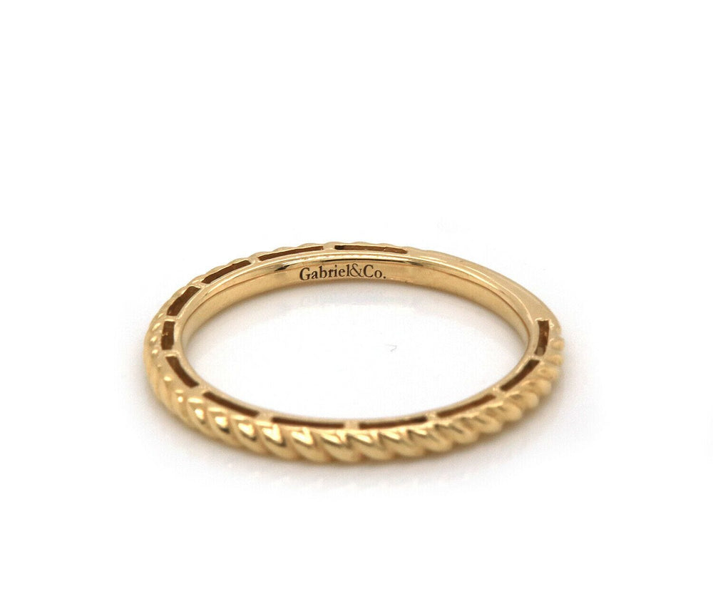 New Gabriel & Co. Twisted Rope Stackable Band Ring in 14K