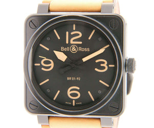 Bell & Ross Aviation Automatic BR01-92, Stainless, Leather Band