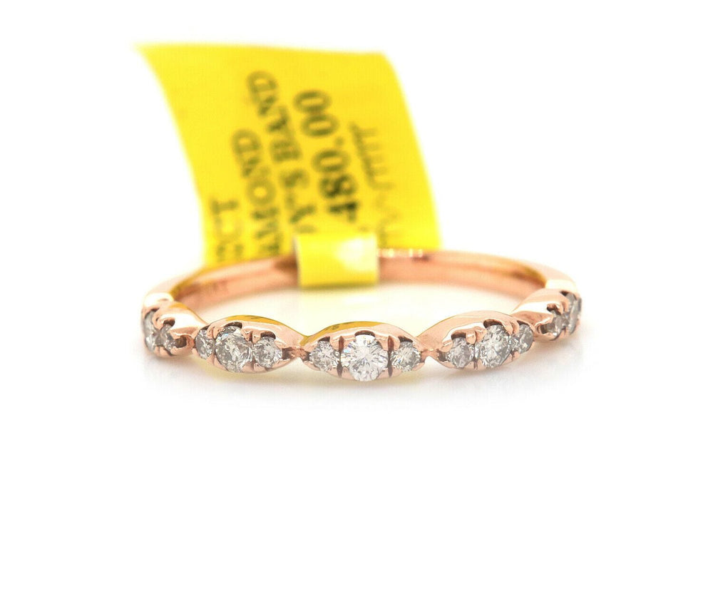 New 0.32ctw Diamond Marquise Shaped Wedding Band Ring in 14K